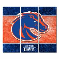 Boise State Broncos Triptych Double Border Canvas Wall Art