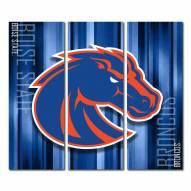 Boise State Broncos Triptych Rush Canvas Wall Art