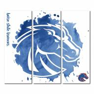 Boise State Broncos Triptych Watercolor Canvas Wall Art