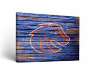 Boise State Broncos Weathered Canvas Wall Art