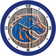 Boise State Broncos Weathered Wood Wall Clock