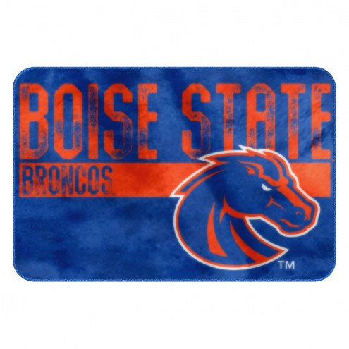 Boise State Broncos Worn Out Bath Mat