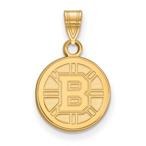 Boston Bruins 10k Yellow Gold Small Pendant