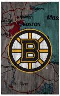 "Boston Bruins 11"" x 19"" City Map Sign"