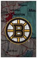 "Boston Bruins 11"" x 19"" City Map Sign"