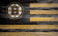 "Boston Bruins 11"" x 19"" Distressed Flag Sign"