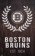 "Boston Bruins 11"" x 19"" Laurel Wreath Sign"