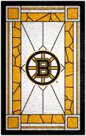 "Boston Bruins  11"" x 19"" Stained Glass Sign"