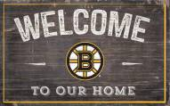 """Boston Bruins 11"""" x 19"""" Welcome to Our Home Sign"""
