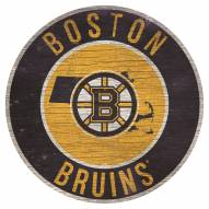"""Boston Bruins 12"""" Circle with State Sign"""