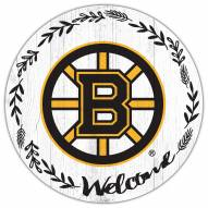 "Boston Bruins  12"" Welcome Circle Sign"