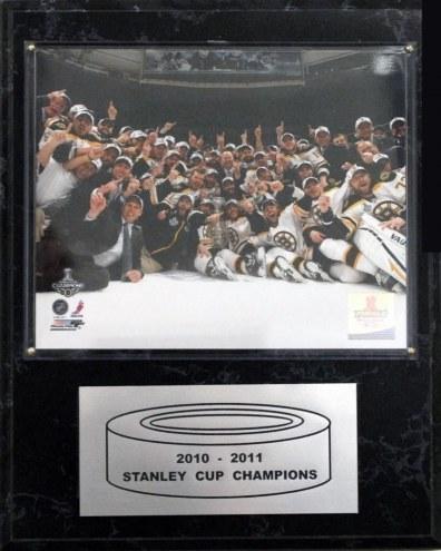"""Boston Bruins 12"""" x 15"""" 2010-2011 Stanley Cup Celebration Plaque"""