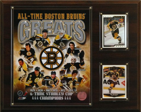 """Boston Bruins 12"""" x 15"""" All-Time Greats Plaque"""