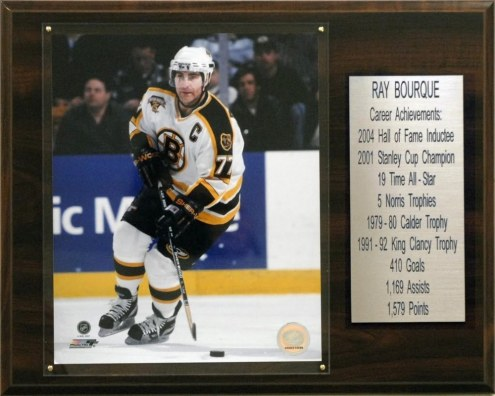 "Boston Bruins 12"" x 15"" Ray Bourque Career Stat Plaque"