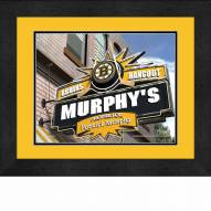 Boston Bruins 13 x 16 Personalized Framed Sports Pub Print