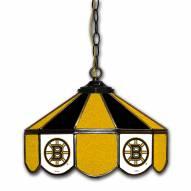 "Boston Bruins 14"" Glass Pub Lamp"