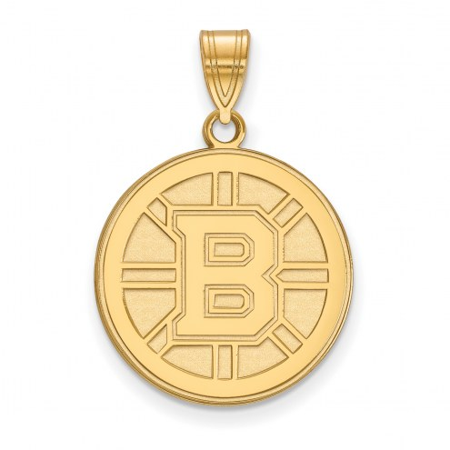 Boston Bruins 14k Yellow Gold Large Pendant