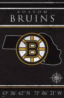 "Boston Bruins  17"" x 26"" Coordinates Sign"
