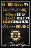 """Boston Bruins  17"""" x 26"""" In This House Sign"""