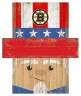 "Boston Bruins 19"" x 16"" Patriotic Head"