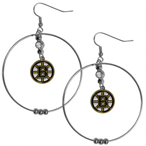 "Boston Bruins 2"" Hoop Earrings"