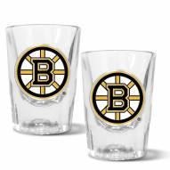 Boston Bruins 2 oz. Prism Shot Glass Set