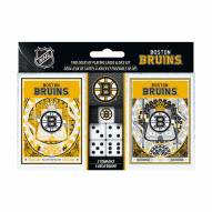 Boston Bruins 2-Pack Playing Cards & Dice Set