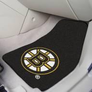 Boston Bruins 2-Piece Carpet Car Mats
