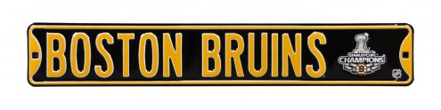 Boston Bruins 2011 Champs Street Sign