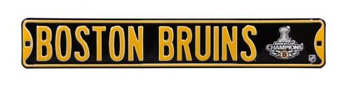 Boston Bruins 2011 Champs Street Sign