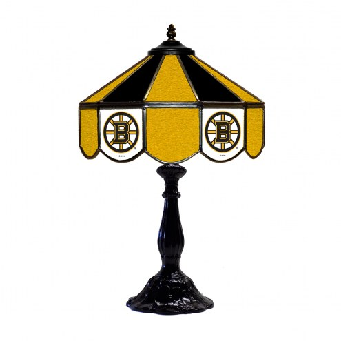 "Boston Bruins 21"" Glass Table Lamp"