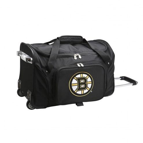 """Boston Bruins 22"""" Rolling Duffle Bag"""