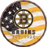 "Boston Bruins  24"" Flag Barrel Top"
