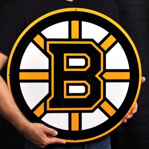 "Boston Bruins 24"" Steel Logo Sign"