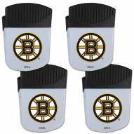 Boston Bruins 4 Pack Chip Clip Magnet with Bottle Opener