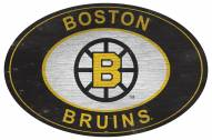 "Boston Bruins 46"" Heritage Logo Oval Sign"