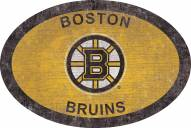 """Boston Bruins 46"""" Team Color Oval Sign"""
