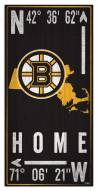 "Boston Bruins  6"" x 12"" Coordinates Sign"
