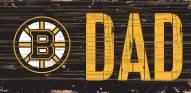 "Boston Bruins 6"" x 12"" Dad Sign"