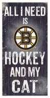 "Boston Bruins  6"" x 12"" Hockey & My Cat Sign"
