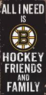 "Boston Bruins 6"" x 12"" Friends & Family Sign"