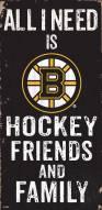 "Boston Bruins 6"" x 12"" Friends & Family Sign"