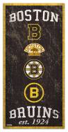 "Boston Bruins  6"" x 12"" Heritage Sign"