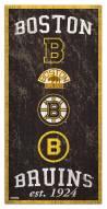 "Boston Bruins  6"" x 12"" Heritage Sign"
