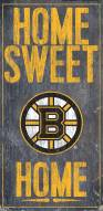 """Boston Bruins 6"""" x 12"""" Home Sweet Home Sign"""