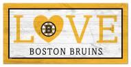 "Boston Bruins 6"" x 12"" Love Sign"