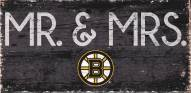 "Boston Bruins 6"" x 12"" Mr. & Mrs. Sign"