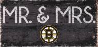 "Boston Bruins 6"" x 12"" Mr. & Mrs. Sign"