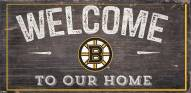 """Boston Bruins 6"""" x 12"""" Welcome Sign"""
