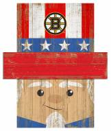 "Boston Bruins 6"" x 5"" Patriotic Head"